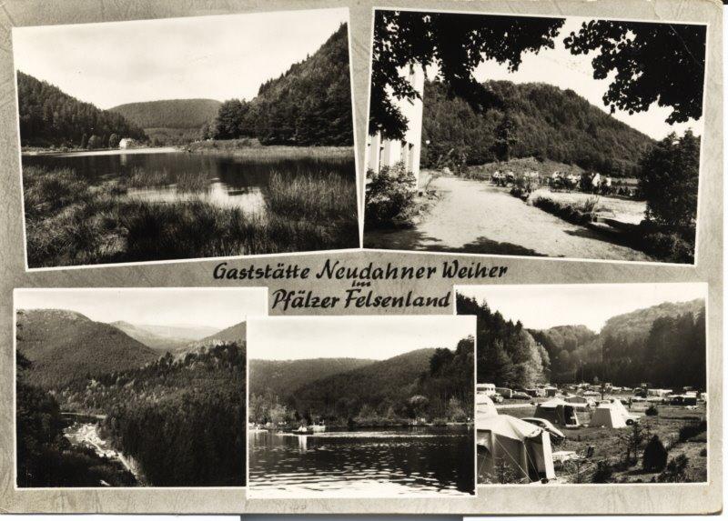Die Gaststätte am Neudahner Weiher in den 50er Jahren